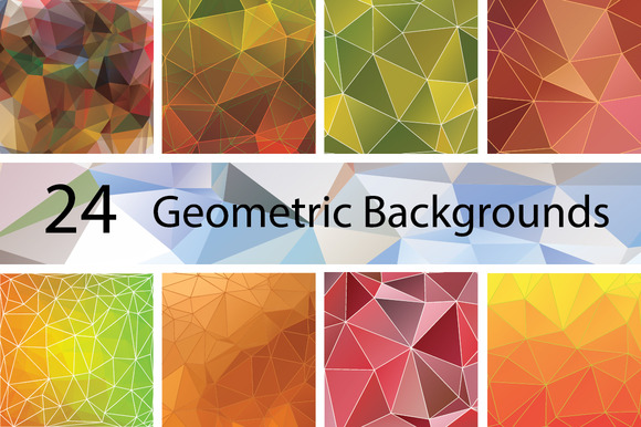24 Geometric Backgrounds