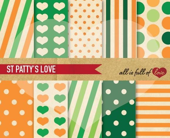 St Patricks Day Retro Patterns