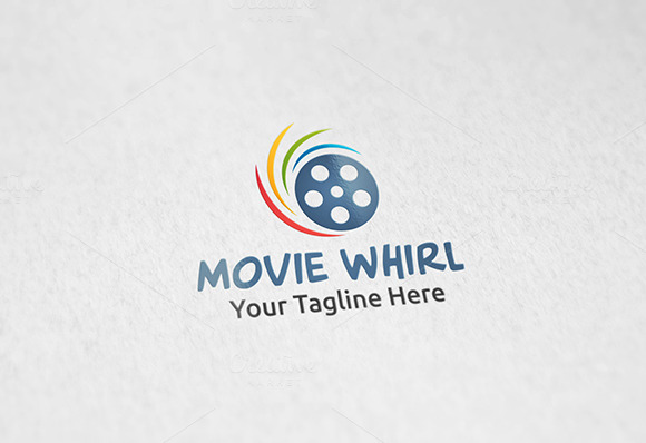 Movie Whirl Logo Template