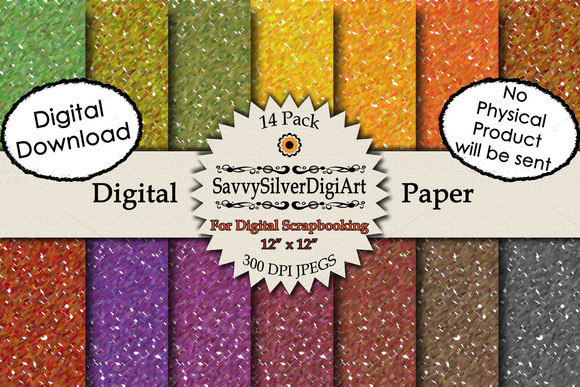 Fall Confetti Textured Digital Paper