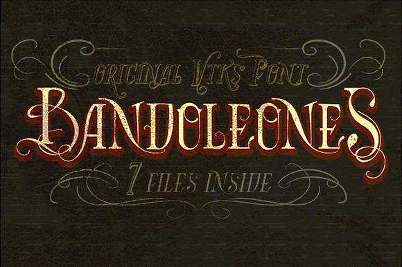 Bandoleones Font 7 Files