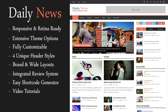 DailyNews WordPress Magazine Theme