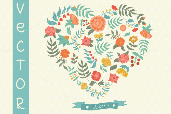 Vector Flowers Vector Set