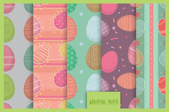 Easter Seamless Pattern Set