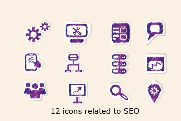 12 SEO Icons