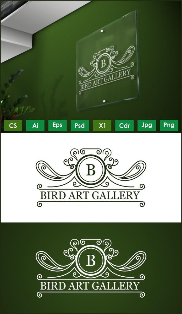 Floral Bird Art Logo Template