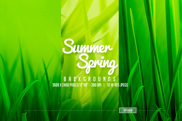 12 Summer Spring Backgrounds