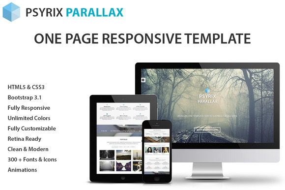 Psyrix One Page HTML Template