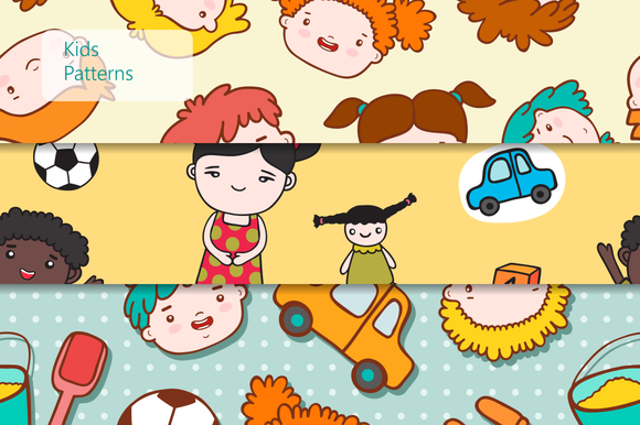 Seamless Kids Patterns