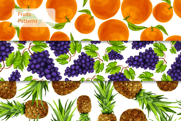 Seamless Fruits Patterns