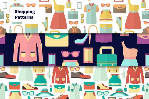 Seamless Shopping Patterns