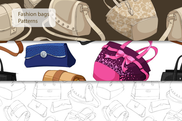 Seamless Fashion Bags Pattern