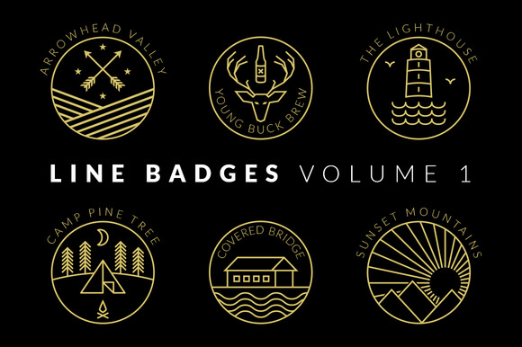 Line Badges Volume 1