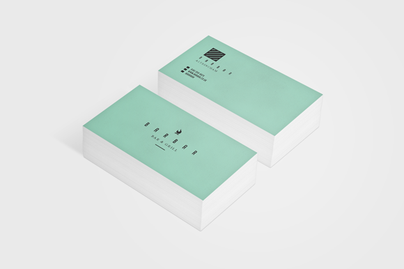 Bar Bar Minimal Business Card