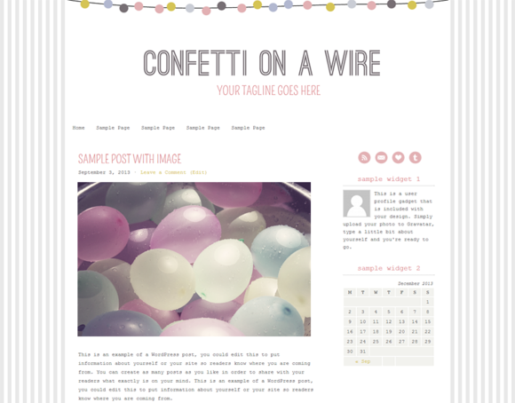Confetti On A Wire WordPress Theme