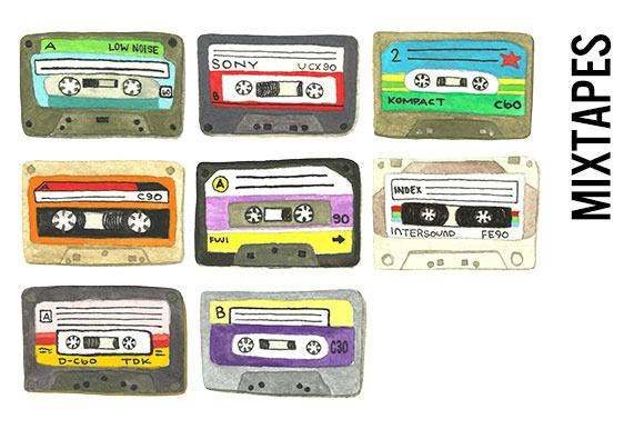 Mixtapes Clip Art Transparent PNGs
