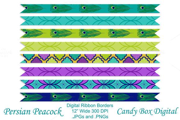 Peacock Ribbon Borders
