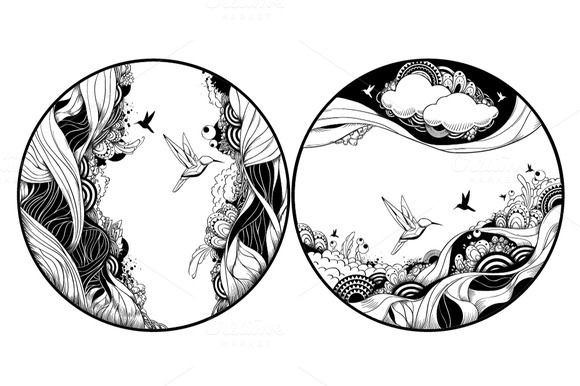 Circle Abstract Illustrations