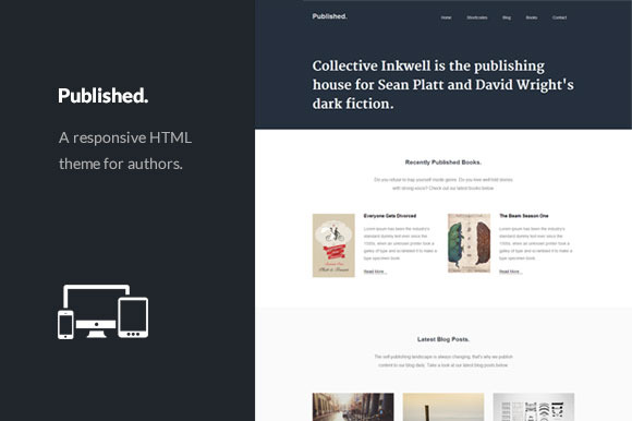 Published Responsive Author Theme
