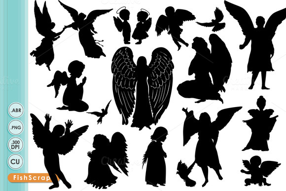 Angel ClipArt Silhouettes