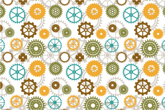 Seamless Background Of Gear Wheels