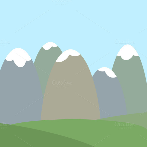 Mountains Vector Landscape Backdrop