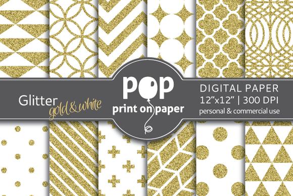 Glitter Gold Digital Paper