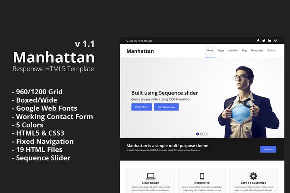 Manhattan Responsive HTML Template