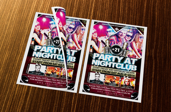 Party At NightClub Flyer