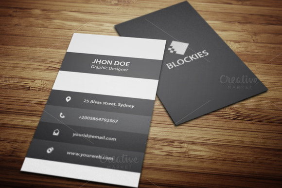 An Exclusive Vertical Business Card