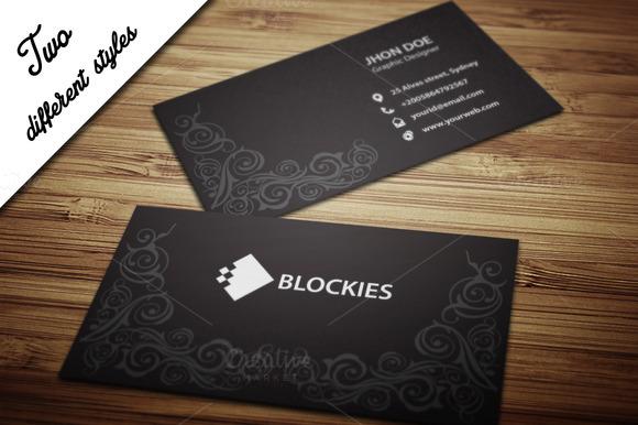 Decorative Business Card Template