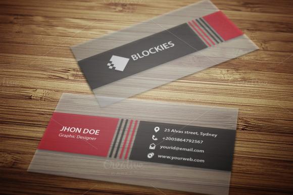Semi-Transparent Business Card