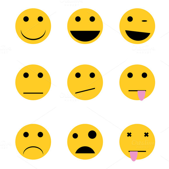 Emotion Icons Vectors