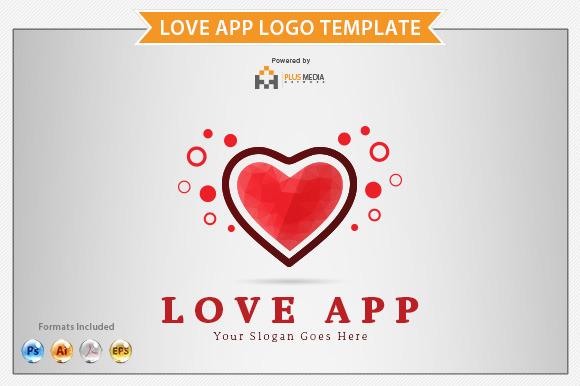 Love App Logo Template