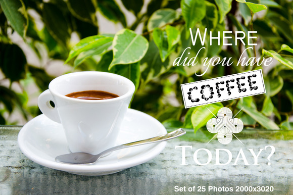 Set Of 25 Coffee Cups Photos