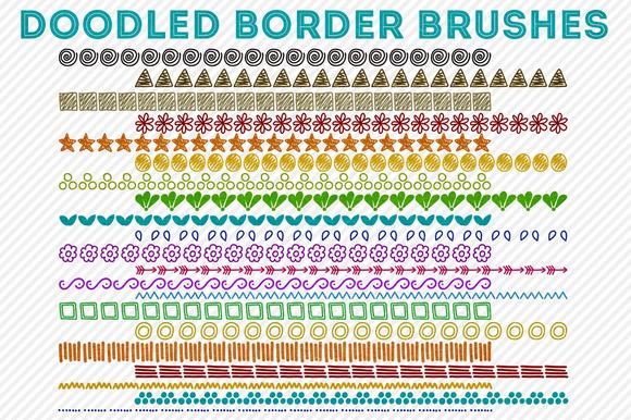 Doodled Border Brushes