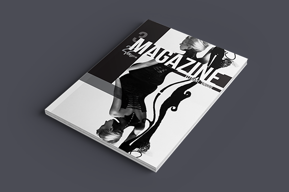 Black White Magazine Template