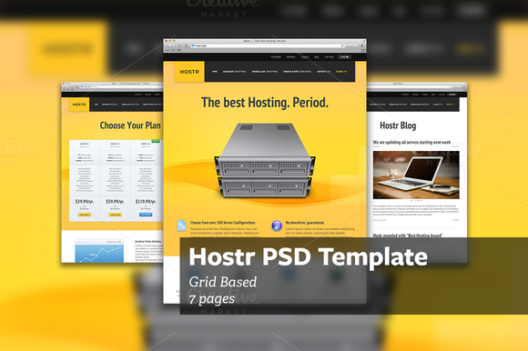 Hostr PSD Template