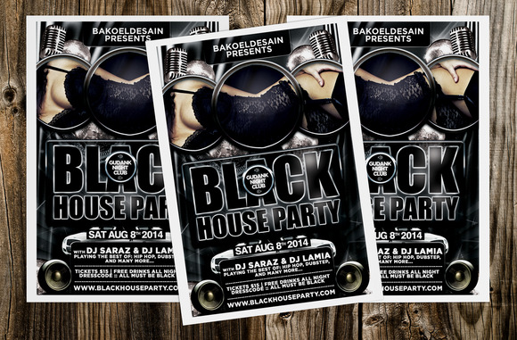 Black House Party Flyer