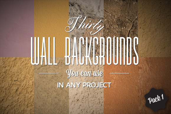 30 Wall Backgrounds Pack#1