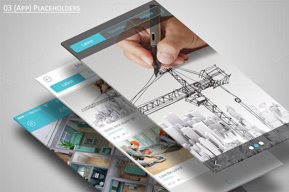 Mobile Application Showcase Mockup