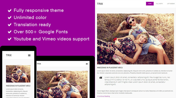 Trix Responsive Blog Theme