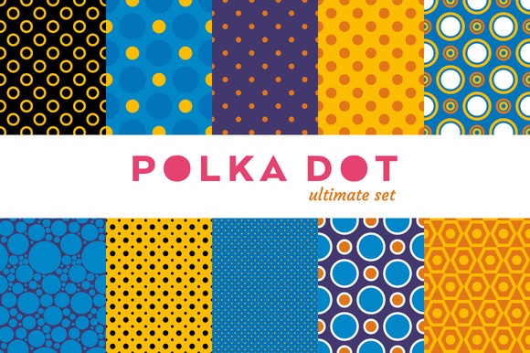 Polka Dot Colorful Set 10 Seamless