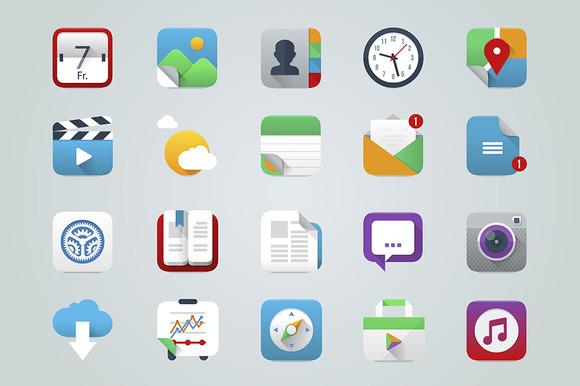 App UI Icons IOS Style