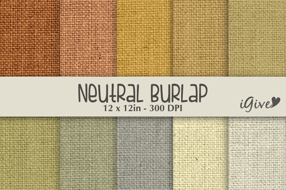 Neutral Burlap Paper Pack