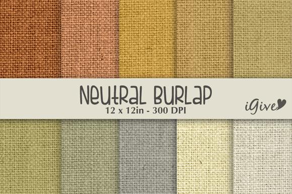 Neutral Burlap Paper Pack