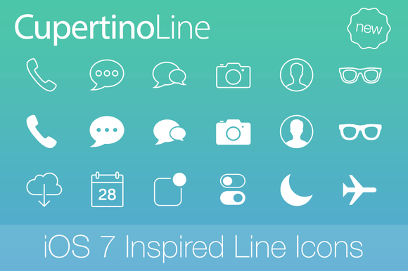 CupertinoLine IOS 7 Inspired Icons