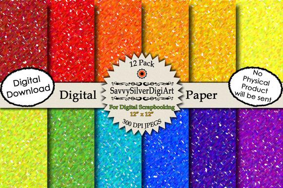 Rainbow Digital Confetti Paper