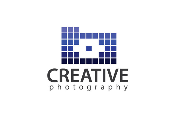 Pixelized Photography Logo Template