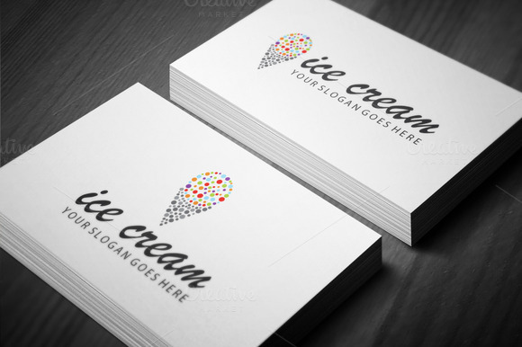 Colorful Ice-cream Logo Template
